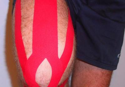 Elastisches Muskeltape zum Muskelaufbau (z.B.: Quadriceps-Muskel)